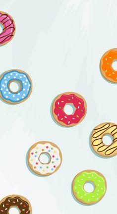 Fond d'écran donutsLe chien à taches