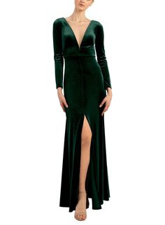Winter Bridesmaid Dresses, Winter Bridesmaids, Velvet Bridesmaid Dresses, Bridesmaid Dresses Online, Satin Dresses, Bridal Dresses, Bridesmaid Inspiration, Green Gown, Dress Collection