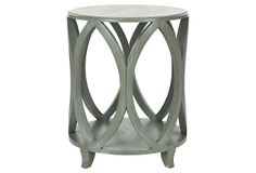 One Kings Lane - A Serene Scene - Calvin Accent Table, Green/Gray