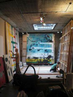 Chris Martin @ Life on Mars gallery. Studio View (photo: Maria Calandra) Brooklyn, NY.