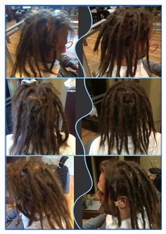 Before & After maintenance with 1-2 month young dreadies that just needed a little push in the right direction. #dreadlocks #caucasiandreadlocks #georgiadreadheads #dreadlockmaintenance #professionaldreadlocks #dreadlocksinsuwanee #dreads