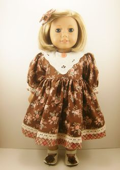 18 American Girl Doll Clothes Long Sleeved Brown by dressurdolly2