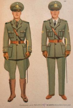 Argentine Army 1946 pattern non-commissioned officers' service uniforms