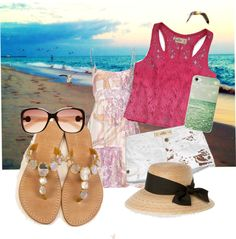 """""""walk on the beach"""" by bethanyprice1998 ❤ liked on Polyvore"""