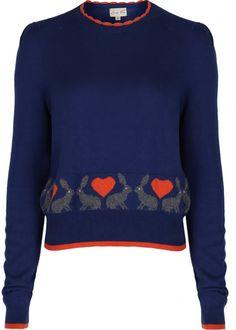 Lindy Bop Alysa Rabbit Jumper sweater blue