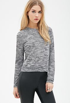 Boxy Marled Knit Top | FOREVER21 - 2000099922