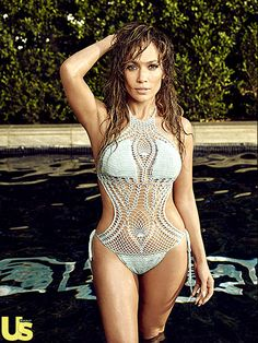 """The mom of twins—Emme and Max—also modeled a crocheted monokini that kept no secrets. """"Very rarely will I skip my workout,"""" Lopez told Us. """"Sometimes, I work too late the night before and I'm like, 'Ugh, I can't do this.' But I tell myself, 'Just do it. It's only an hour.' It's just talking yourself off the ledge of being a lazy bum."""""""