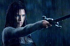 A hot female vampire is Rhona Mitra who plays Sonja in Underworld