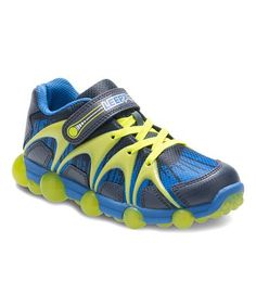 This Blue & Lime Leepz Light-Up Leather Sneaker is perfect! #zulilyfinds