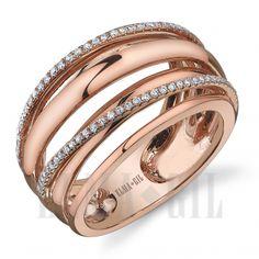 ELMA*GIL 18KRG Diamond Fashion Ring DR-404