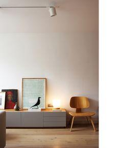 Diseño y reforma de apartamento. Madrid. Iglesias-Hamelin arquitectos c.b. Salón-comedor.
