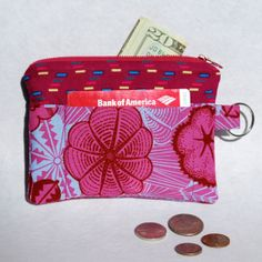 RESERVED FOR TAYLOR Change Purse Wallet Zipper by mylifeinfabric, $14.00