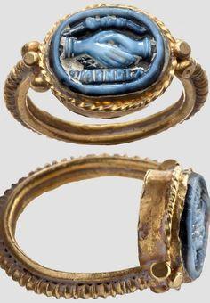 virtual-artifacts: Gold Cameo Ring. Roman, 1st - 2nd Century.