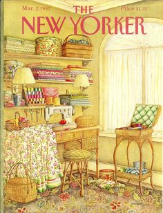 """The New Yorker"" cover by Jenni Oliver, March 2, 1987"
