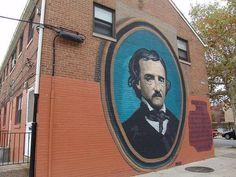 Fachada de la casa de Edgar Allan Poe en Filadelfia