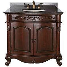 """Provence Imperial Granite Top 37"""" Wide Sink Bath Van"""