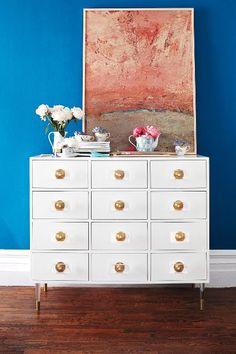 Lacquered Regency Twelve Drawer Dresser - anthropologie.com