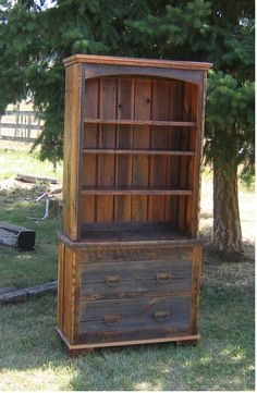 The Country Roads Reclaimed Wood 2 Piece Bookcase will add a rugged flair to your contemporary home, log cabin, rustic lodge, or western ranch home. Visit us online or call for more rustic furniture and decor. Best Wood For Furniture, Rustic Furniture, Homemade Furniture, Furniture Projects, Kitchen Furniture, Office Furniture, Rustic Bookcase, Reclaimed Wood Desk, Barn Wood Projects