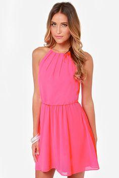 Up to Something Neon Pink Dress  |  @lulusdotcom