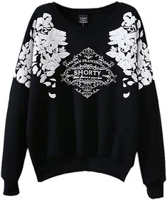 Mooncolour Women s Splicing Print Long Sleeve Pullover at Amazon Women s  Clothing store  cd7325a9d