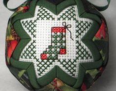 Quilted Keepsake Ornament - Merry Christmas / Christmas Stocking