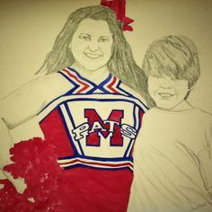 Watercolor and pencil portrait of my children. Birthday gift for their Granddaddy.  :)