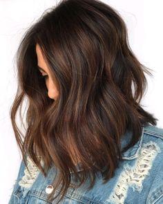 Rich Brown Hair, Natural Brown Hair, Honey Brown Hair, Chocolate Brown Hair Color, Black Hair Dyed Brown, Brown Hair Cuts, Ash Brown, Brown Hair Long Bob, Dark Brown Hair With Low Lights