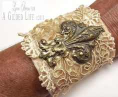 Cuff Bracelet Paris by trashtotreasureart on Etsy, $36.00