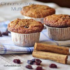 Easy Cinnamon Raisin Muffins make mornings a breeze all week long.