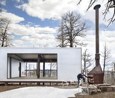 Photo 1 of 12 in An Architect's Cabin Rises From the Ashes After a Devastating Forest Fire - Dwell
