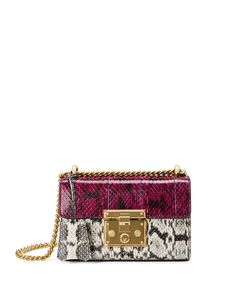 72f96066ba7503 Shop for Padlock Mini Snakeskin Shoulder Bag, White/Black by Gucci at  ShopStyle.