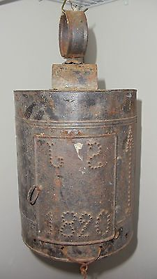 Half Round Punched Tin Lantern Dated 1820 with The Initials s J | eBay seller from York,PA