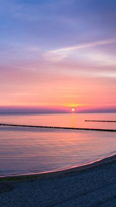 Lake, shore, sunset, dusk ♥g♥
