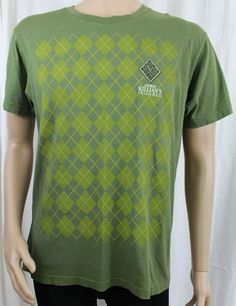 George Killian's Irish Red Large Green Argyle T-Shirt #Alternative #GraphicTee