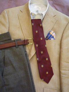 Linen jackets & medium grey trousers from Heavy Tweed Jacket