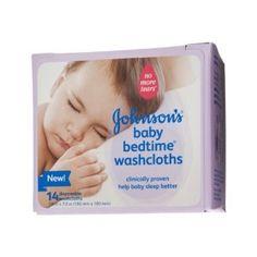 Amazon.com: Johnson's Baby Bedtime Washcloths - 14 ct: Health & Personal Care