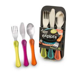 Closer To Nature Explora First Grown Up Cutlery Set Yogurt Melts, Kids Dishes, Baby Cereal, Baby Necessities, Baby Alive, Twin Babies, Cutlery Set, Baby Feeding, Gifts For Girls