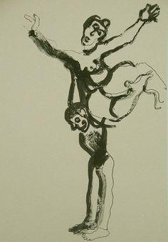 La Edad de la Muerte (X). Litografía, 23 x 15,5 cm. mancha, 31,5 x 23 cm. soporte. 60 €.