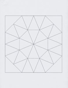 Grandma's Surprise Kaleidoscope 7 inch quilt block free #grandmassurprise                                                                                                                                                     Mehr