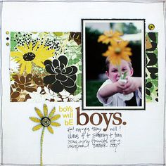 *Boys will be BOYS* - Layle Koncar featuring ORIGINS - Scrapbook.com