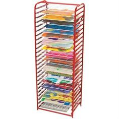 Colorations Deluxe Space Saver Drying Rack Scrapbook Room Organization, Paper Organization, Classroom Organization, Classroom Management, Classroom Design, Classroom Decor, Really Good Stuff, Outdoor Classroom, Space Saver