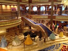 Photo Tour of the Disney Dream cruise ship - Princess Gathering - just one of the activities families will love on their Disney cruise vacation