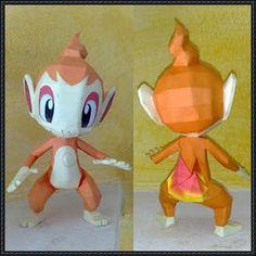 Papercraft, origami, manualidades en papel y más: CHIMCHAR - Pokémon Papercraft