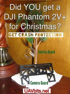 Did YOU get a #DJI #phantom 2V+ for Christmas? Get crash protection today from UAVbits.net