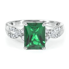 Radiant Cut Lab-Created #Emerald #Ring in Sterling Silver by @Helzberg Diamonds Diamonds Diamonds #aislestyle Enter the Aisle Style Sweeps for a chance to win up to $3,000 in gift certificates from David's Bridal & Helzberg Diamonds! Enter now thru 9/2: http://sweeps.piqora.com/aislestyle Rules: http://sweeps.piqora.com/contests/contest/content/davidsbridal.com/310/rules