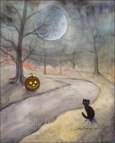 the autumn moon lights my way...