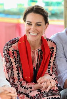 Catherine, Duchess of Cambridge smiles as she visits the Mark Shand Foundation in Kaziranga National Park on day 4 of the royal visit to India and Bhutan on April 13, 2016 in Kaziranga, India.