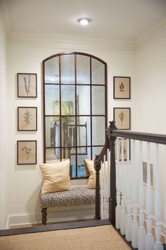 Melissa Payne Baker's home featuring Ballard Designs Amiel Mirror
