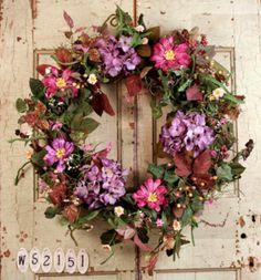 Romantic Garden Summer Door Wreath