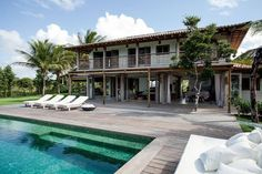 """Seamless transition from indoors to outdoors - beautiful beach home in Trancoso, Brazil renovated by Vida de Vila architects - as found in blog """"The Style Files"""""""